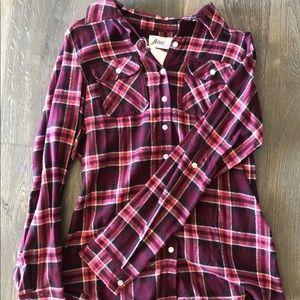 Other - Burgundy flannel